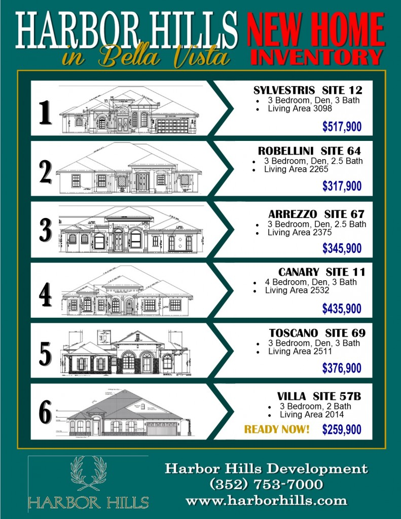 Harbor Hills Inventory Spec Homes