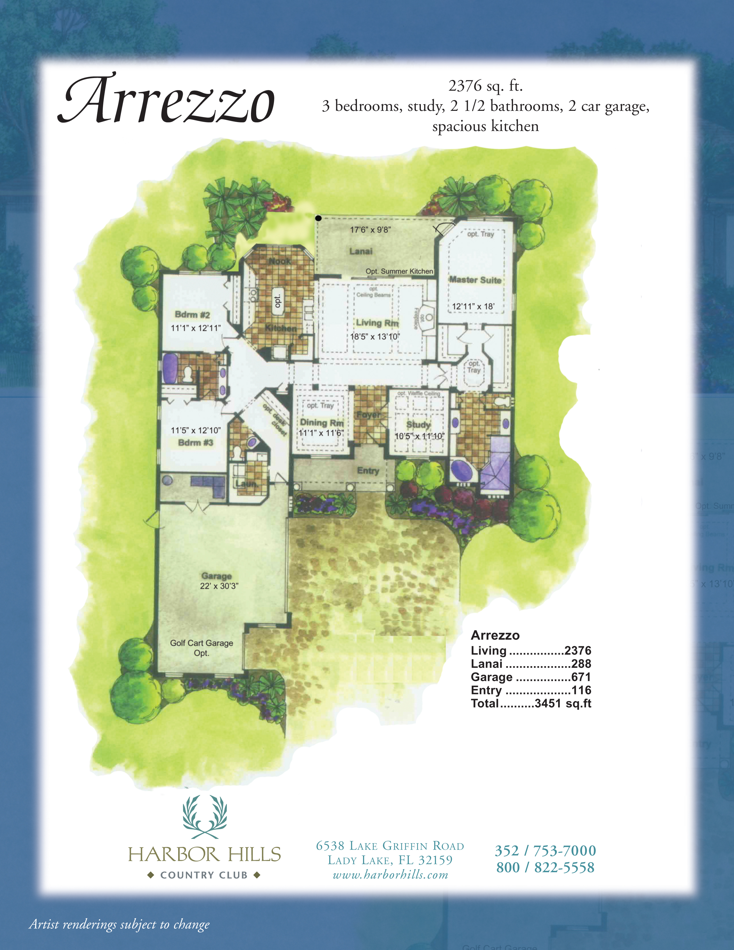 arrezzo harbor hills country club the arrezzo is a stunning home and is unmatched in design value it has all the features of a grand estate golf course home only on a smaller scale for a