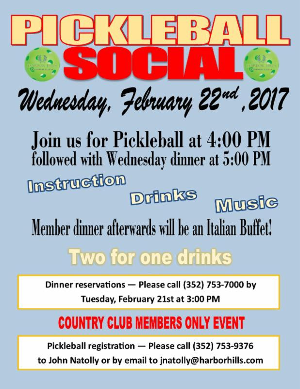 Pickleball Social Feb 22 2017